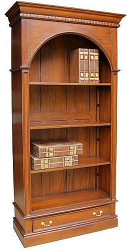 Arch Top Bookcase in Mahogany